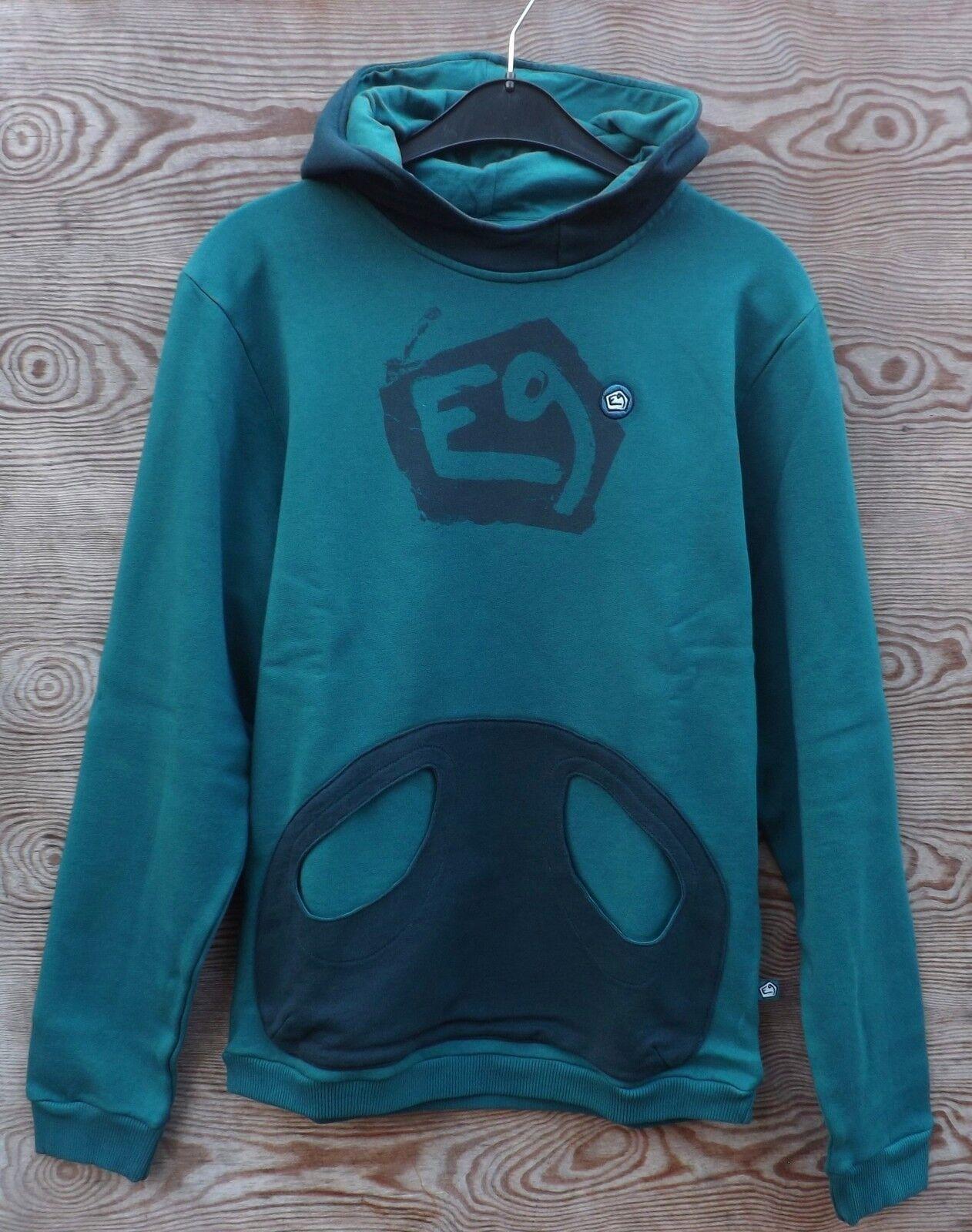 E9 caobi - jersey capucha para hombre, petrol-iron