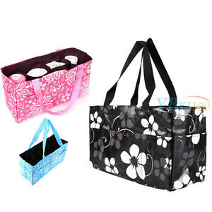 Multifunction Waterproof Baby Changing Diaper Nappy Organizer Tote Floral Bag