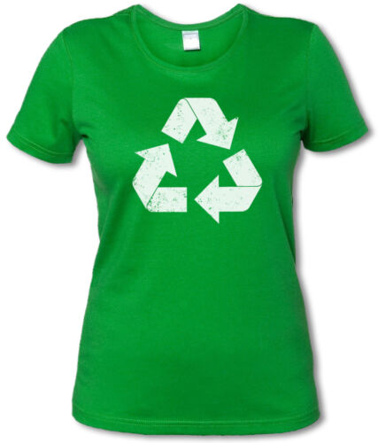 THE BIG GREEN VINTAGE RECYCLE LOGO BANG THEORY GIRLIE SHIRT Sheldon Bazinga TV