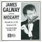 James Galway Performs Mozart Concerto No 1 K313 Andante K315 CD Classical Music