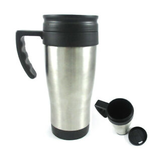 Stainless-Steel-Insulated-Double-Wall-Travel-Coffee-Tea-Mug-Cup-16-Oz-Thermo-New