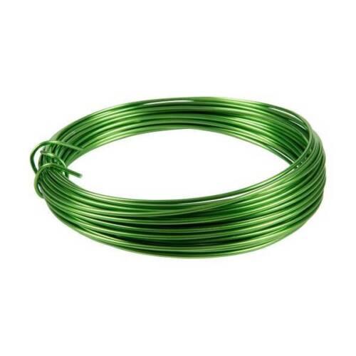 Deko Basteldraht 0,50€//m 2mm Aluminiumdraht apfelgrün 3 Meter D Season