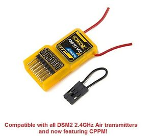 OrangeRx-Orange-R610-v2-DSM2-6CH-2-4GHz-Receiver-CPPM-Drone-Spektrum-R615-R610v2