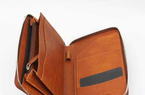 North Cognac Geldbörse Zip Rindleder Hartmann 489 Memphis mann Wallet 80778 fqw0vw5Sx