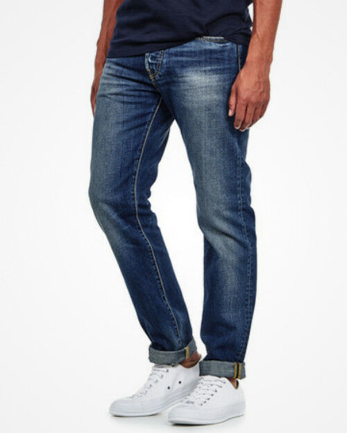 JEANS EDWIN MAN ED 80 SLIM TAPERED (deep bluee- grime dirt) W36 L30 VAL