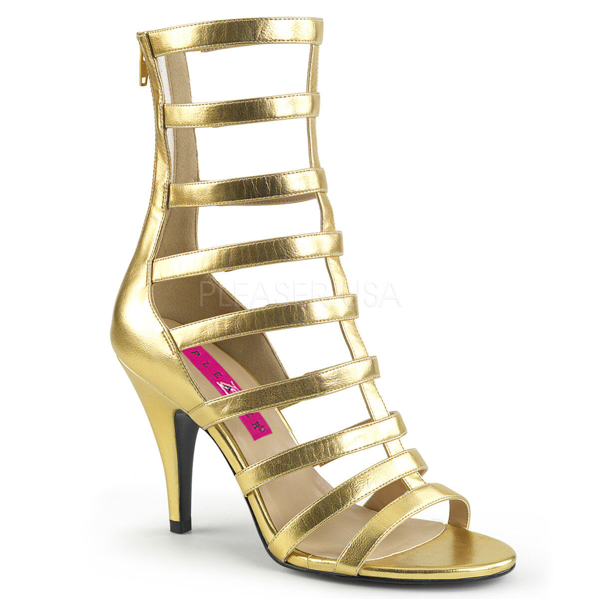 Gold Mens Gladiator Sandals Drag Queen Mens Gold Crossdresser Heels Womans size 12 13 14 90ee9b