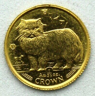 1989 Isle Of Man Persian Cat Gold 1//25 oz Fresh Proof .999 Gold