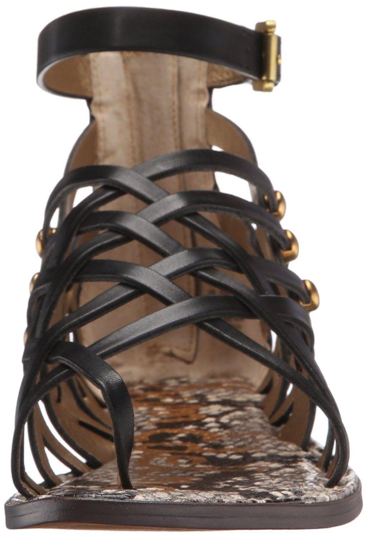 Sam Edelman Gardener Gardener Gardener Gladiator Sandal, Sizes 5-9.5 Black Leather E2533L3001 6b5af1