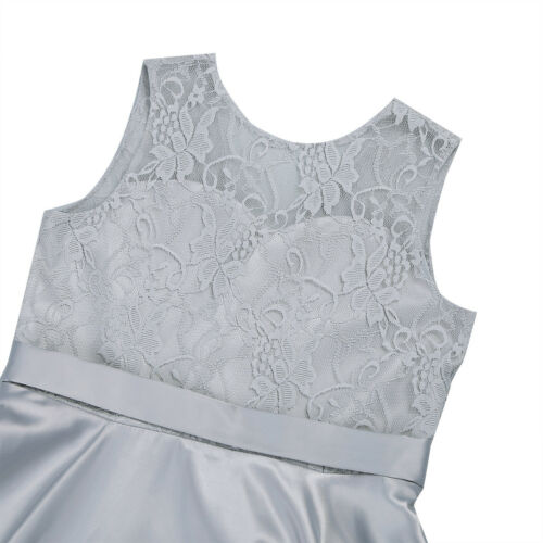 UK Girls Flower Dress Princess Formal Party Wedding Bridesmaid Gown Kids Dresses