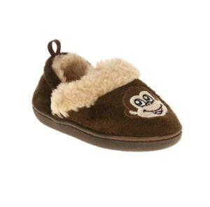 baby infant boy size 5 brown plush cozy