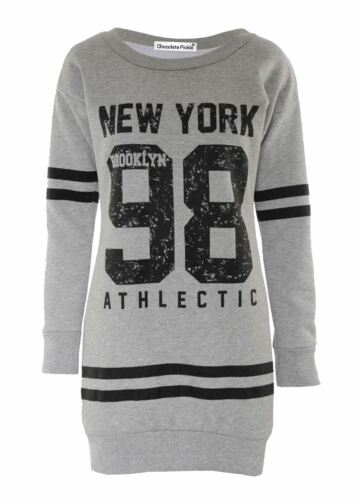 Womens Plus Size Brooklyn 98 Athlectic Sports Sweatshirt Jumpers Tops 8-22