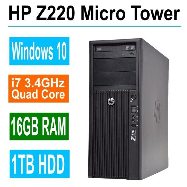 Fast HP Desktop computer i7 Quad 3 4GHz, 16GB RAM, 1TB HDD, Win 10 Pro, DVD  RW