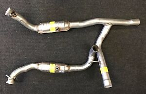 2006-2008 FORD F150 5.4L ENG 4WD FRONT EXHAUST Y PIPE CATALYTIC CONVERTERS | eBay