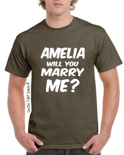 Proposal T-Shirt S-3XL Personalised  Valentines WILL YOU MARRY ME Engagement