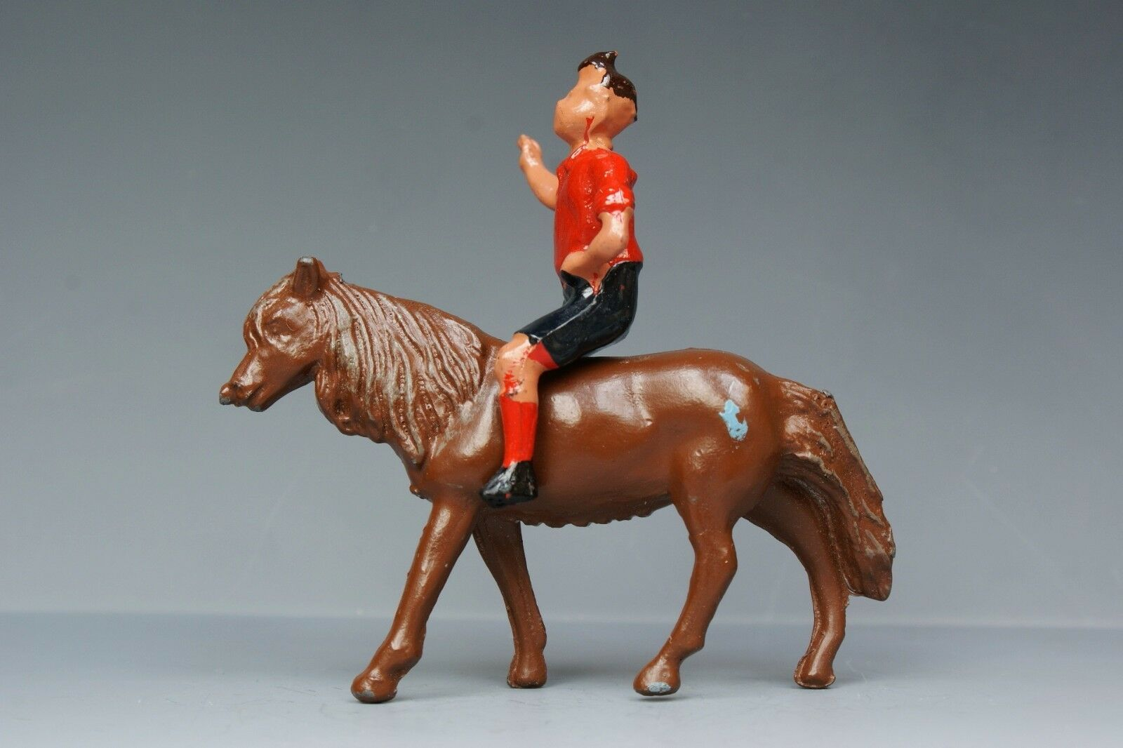CRESCENT TOYS DIECAST METAL FARM RARE SHETLAND PONY & BOY - Superb Example...