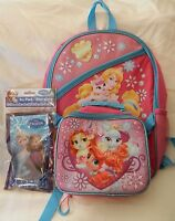Disney Princess And Palace Pets Backpack & Lunchbox Combo With Ice Pack