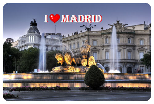 Magnet-I Love Madrid I Fridge Magnet Magnetic Shield