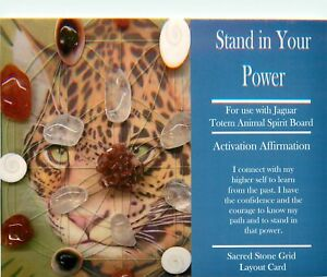 STAND-IN-YOUR-POWER-Grid-Card-4x6-034-Heavy-Cardstock-For-Use-with-Healing-Crystal