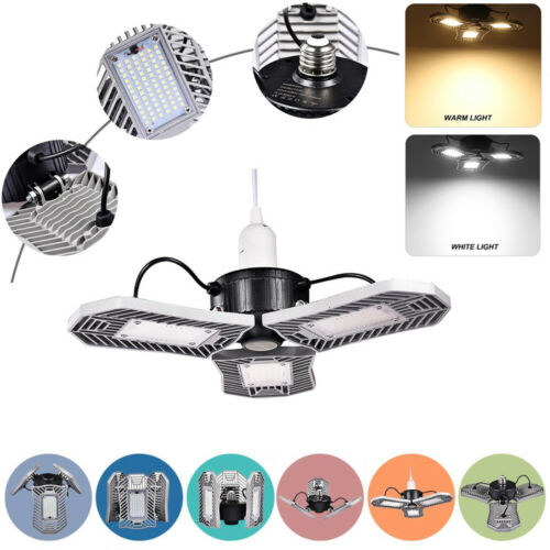 60W E27 Deformable LED High Low Bay Light Industrial Warehouse Work Mining Lamp