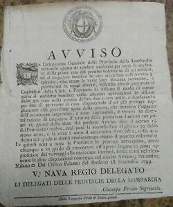 1799-RARO-BANDO-GOVERNO-PROVVISORIO-AUSTRO-RUSSO-A-MILANO-SU-PRESTITO-VOLONTARIO