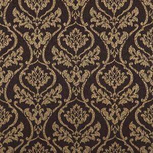 Image Is Loading 683303 Dark Brown Metallic Gold Bling Damask Royal