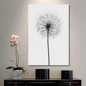 Image Is Loading Minimalism Dandelion Canvas Print Painting Wall Art  Picture