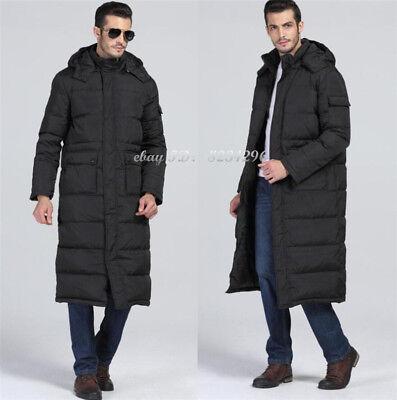 SchwarzeBay Daunenjacke Lange Herren Mantel über Mantel Knielange Wärmejacke Winter 8nmN0w