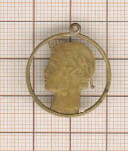 Medal Pendant 1 Franc Morlon Cut
