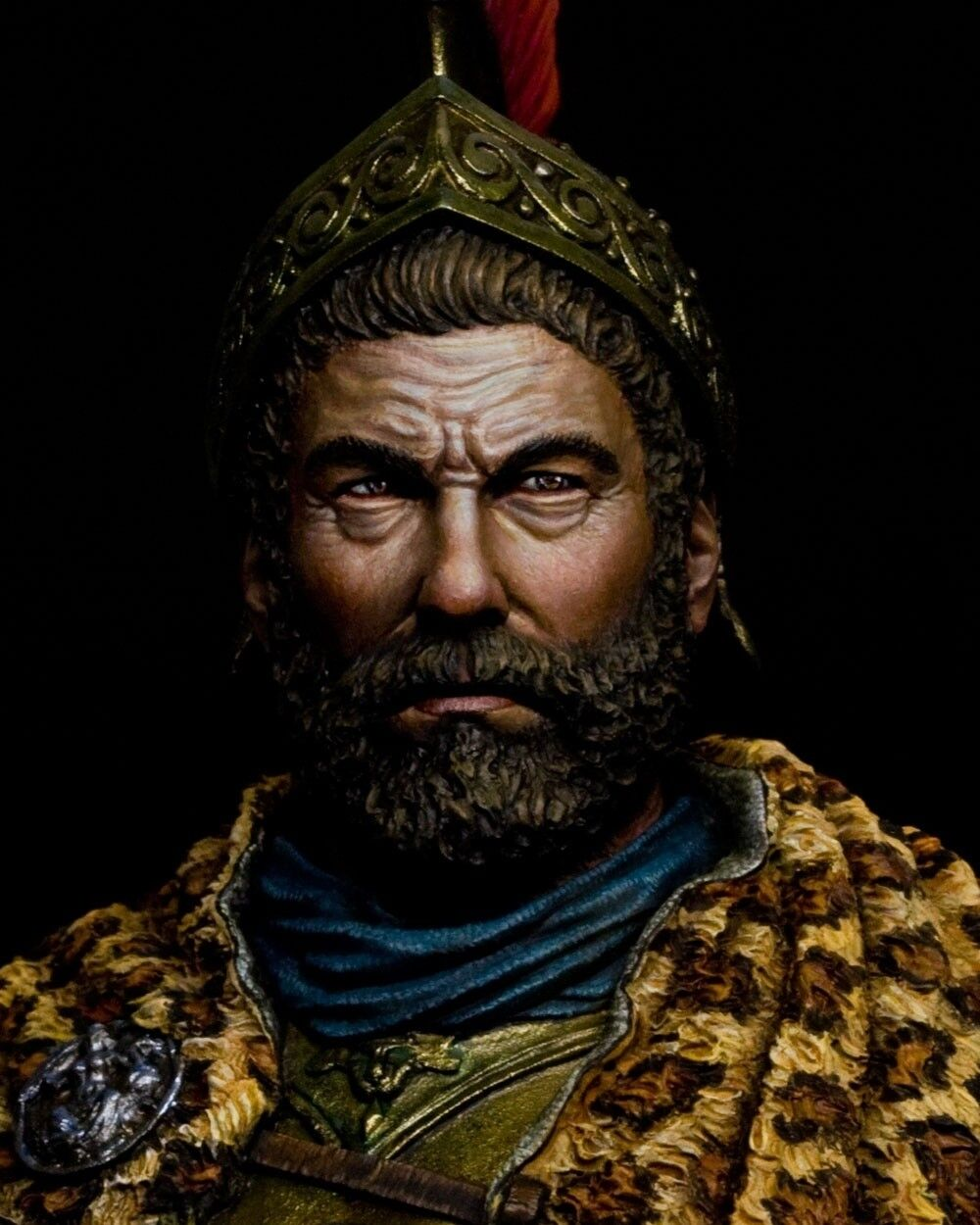Resin soldier, museum, bust,Hannibal Barca, Carthaginian general, Punic War,1 10