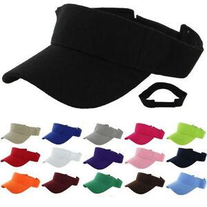 6949cd3a6b005 Unisex Visor Plain Sun Hat Golf Tennis Beach Men Women Cap ...