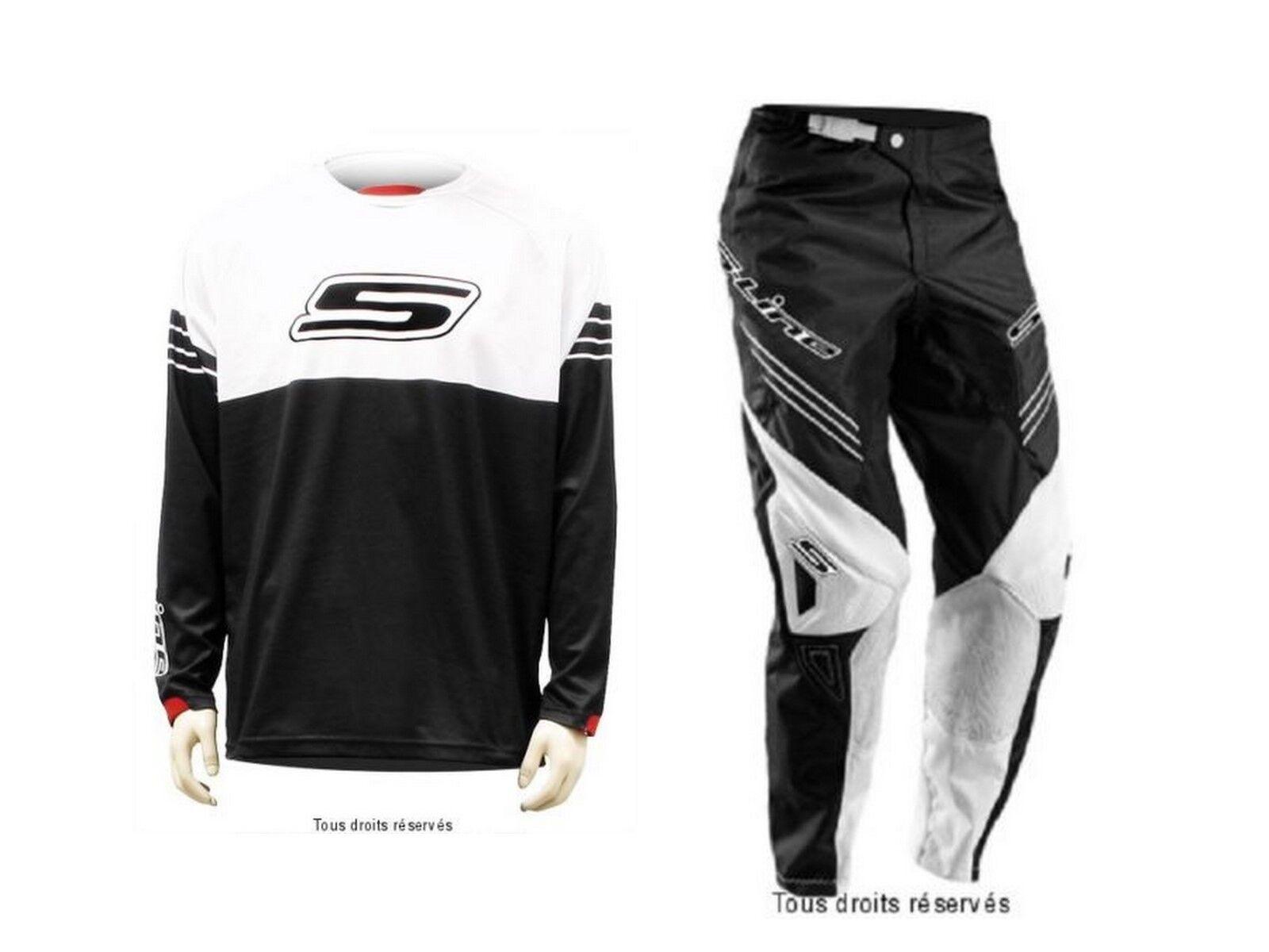 Tenue motocross S-Line Weiß   schwarz pantalon Größe 42 FR   Maillot XL