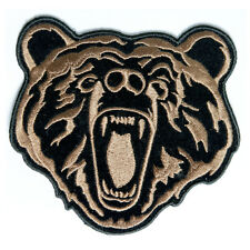 Embroidered Brown Bear Iron on Sew on Biker Patch Badge