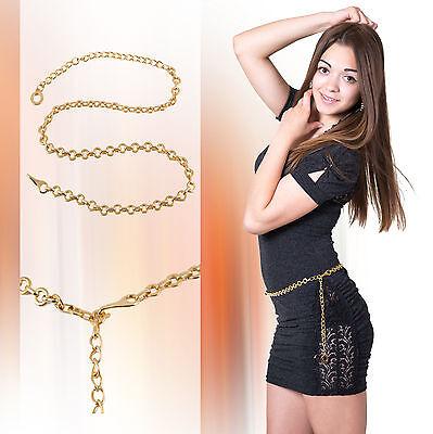Ambizioso Cintura Decorativa Cintura Catena Metallo Oro Colori Top Per Piccoli Cintura Nera Oro-mostra Il Titolo Originale