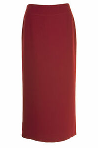 Busy Womens Burgundy Red Long Skirt, Sizes 10 to 26