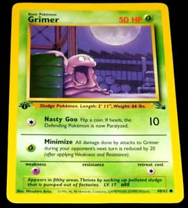 48//62 1st Edition Grimer - Fossil Set Common ***NM*** Pokemon Card
