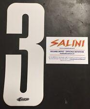 Numeri adesivi gara moto cross - UFO tre bianco