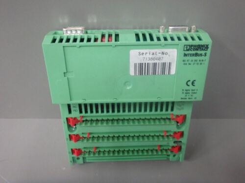 IBS RT24DIO16//16-T PHOENIX CONTACT USED 2753601  //    Digital I//O mod