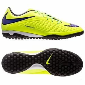 2d4ac0820 NIKE HYPERVENOM PHELON TF TURF INDOOR SOCCER SHOES Volt Hot Lava ...