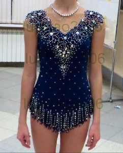 2018 neuer Stil Girl Rhythmic Gymnastics Leotards Ice Figure Skating Kleid 91010