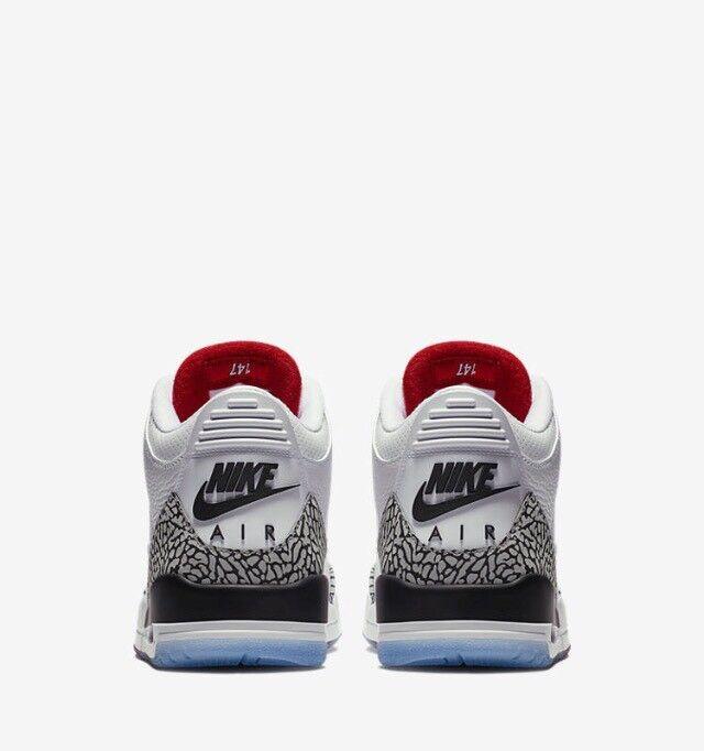 Air Retro Jordan 3 Retro Air Free Throw Line bianca Cement 2018 923096-101 w/Receipt Size 8 8ac363