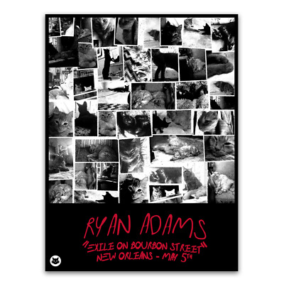 Ryan Adams Exile on Bourbon St Limited Tour Poster New Orleans 5//5//18 x//200 NEW