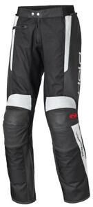 NEU-HELD-Takano-Lederhose-Leder-Textilhose-Kurz-Gr-27-weiss-schwarz-Motorradhose