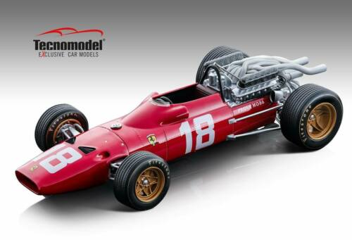 FERRARI 312 F1-67 N.18 MONACO GP 1967 L BANDINI 1:18 TECNOMODEL TM18120A