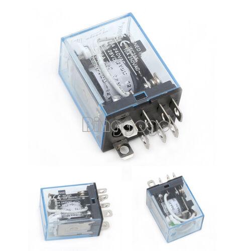 8Pin 2NO 2NC LY2NJ LY2N-J Led Lamp10A DC12V DPDT Coil Power Relay