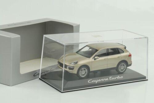 1:43 Porsche Cayenne e2 II Turbo 2015 Palladium metalizado Minichamps WAP Dealer