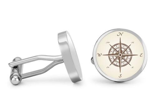 Nautical Compass Cufflinks Map Compass Cuff Links