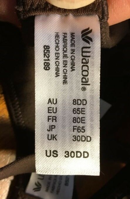 0fe21f55b5 Buy Wacoal How Wire T-shirt Bra Color Brown Sz 30dd 852189 online
