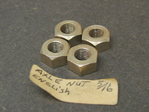 Qty of 4 Vintage NOS English Thread Bicycle Axle Nuts 5//16