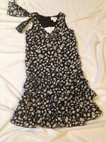 THE CHILDREN'S PLACE KIDS DRESS~GIRLS~6X/7~BLACK WITH MATCHING HAIR BOW~4 SCHOOL