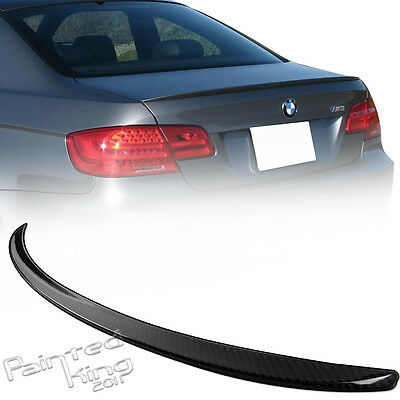 07-11 For BMW E92 M3 COUPE REAL CARBON REAR TRUNK SPOILER 328i 335i